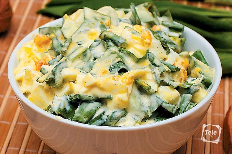 салат с луком пореем рецепты и фото