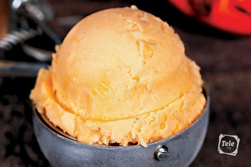 Мороженое из хурмы с медом