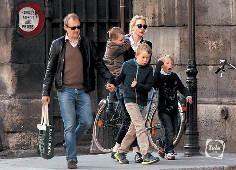 кейт бланшетт фото с семьей