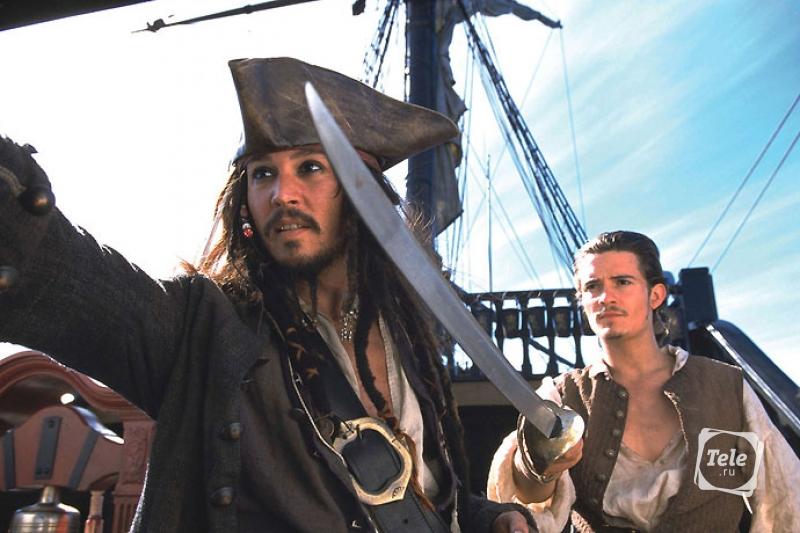 Пираты Карибского моря Джонни Депп Орландо Блум